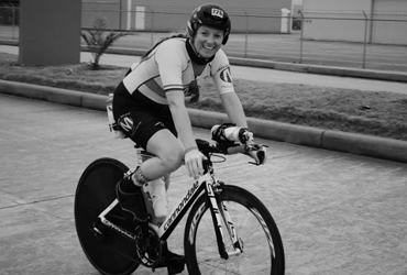 Kendall On a Bike Smiling Cycling